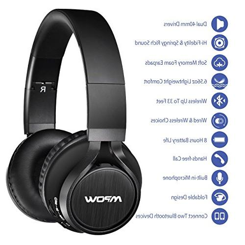 Mpow Thor Bluetooth On Wireless Foldable Mic, Headphones for