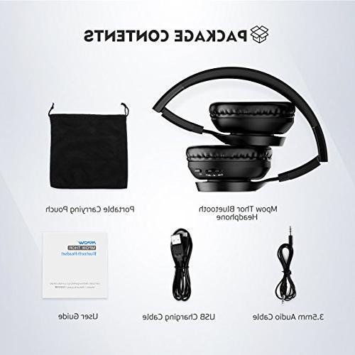 Mpow Bluetooth On Ear, Wireless Foldable Mic,