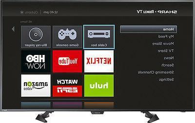Sharp - - - - Smart HDTV Roku