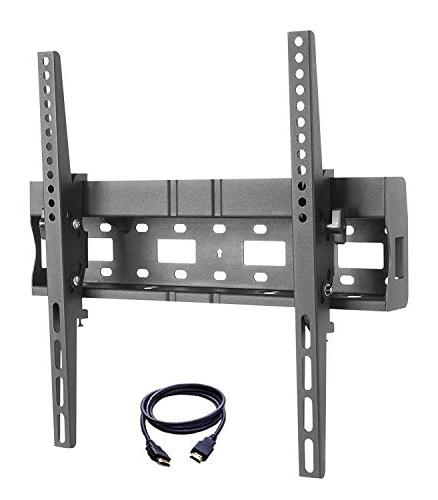"""TV Bracket 32-55"""" Fixed TV Wall Mount with Built-in Spirit L"""
