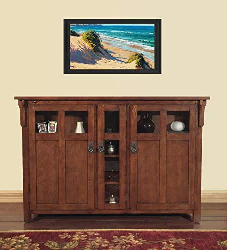 Touchstone Bungalow TV Lift Cabinet - Up to TVs Diagonal Mission Style TV - Pop Up TV Cabinet With