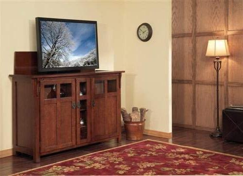Touchstone - Bungalow TV Cabinet Up to TVs Diagonal Style Motorized - Pop TV Cabinet IR/RF, 12V