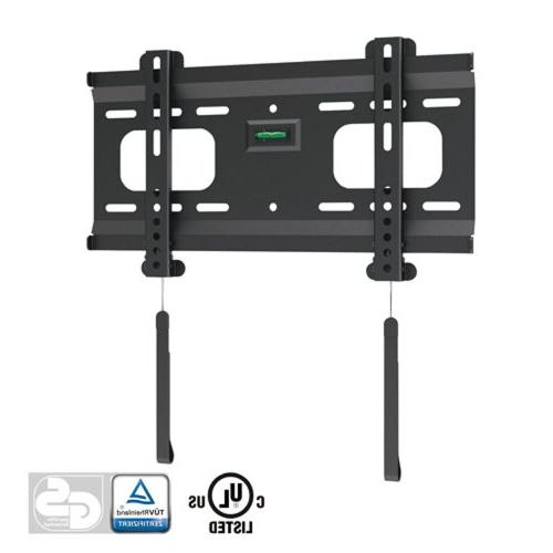 Ultra-Slim Black Fixed/Flat Low-Profile Wall Mount Bracket f