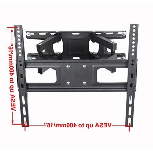 """VideoSecu MW340B2 TV Mount 32-65 OLED and Screen TV, with Motion Tilt Swivel Articulating Dual 14"""" Extend, up VESA LBS WR9"""