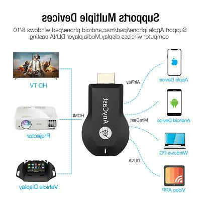 Wireless AnyCast Dongle 1080P HDMI TV Stick Airplay