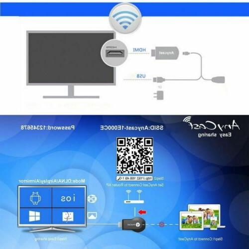 AnyCast 1080p WiFi HD Player Streamer Cast Dongle Stick