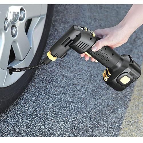 automatic cordless tire inflator seen