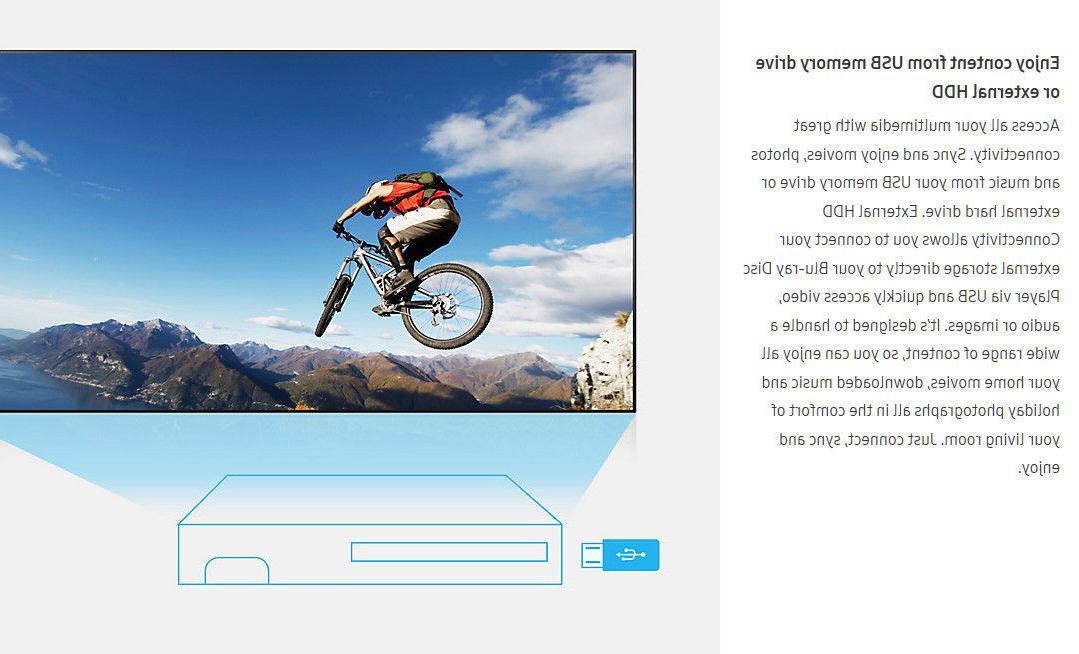 Samsung BD-J5100 HD 1080P Curved Design --BRAND