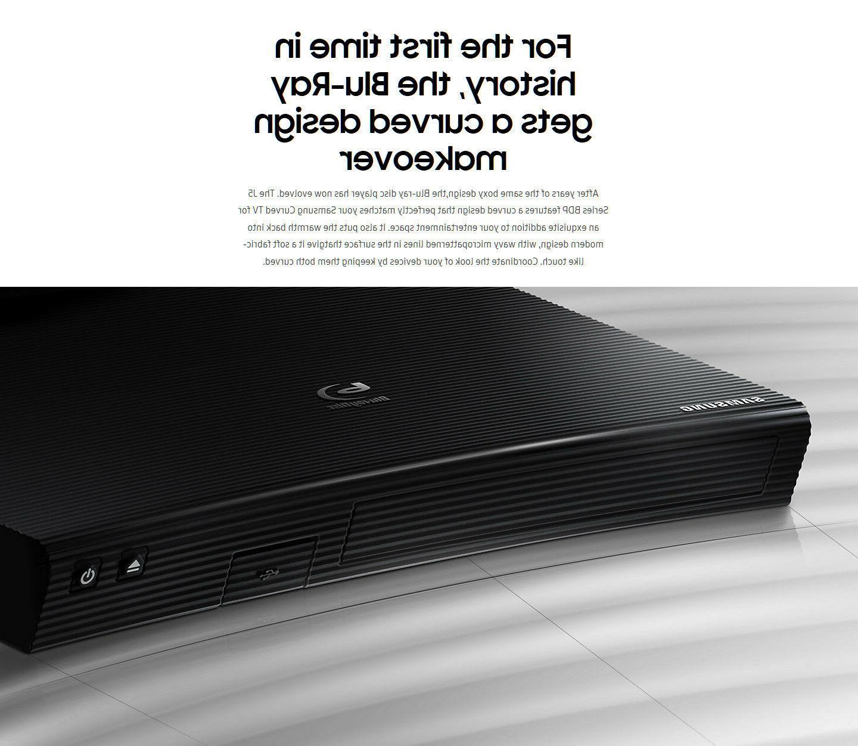 Samsung BD-J5100 Full 1080P Blu-Ray Player Curved Design