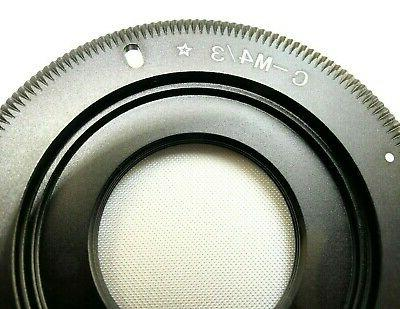 c mount lens adapter to m4 3