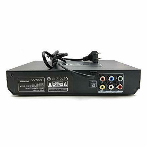 LONPOO Player TV, All Region Free DVD CD Discs Player with AV