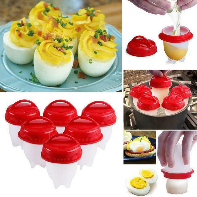 Egglettes 6 Egg Cooker Hard Non-stick Silicone As