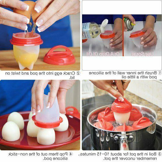Egglettes 6 Egg Cups Non-stick As on TV