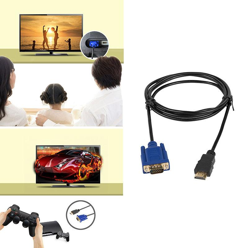 Gold HDMI VGA Male 15 Video 6FT For BOX DVD