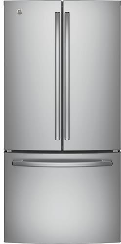 "GE GWE19JSLSS 33"" Inch Counter Depth French Door Refrigerato"