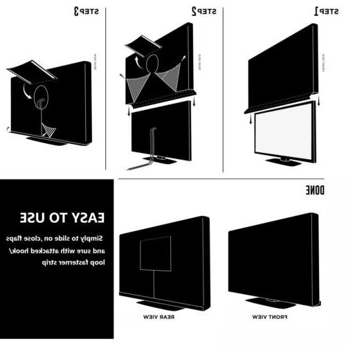 """Heavy Duty Cover for 30-65"""" LED Screen"""