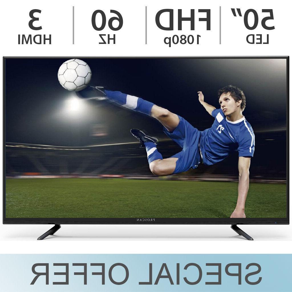 "Proscan 50"" inch 1080p FULL HD 60Hz LED LCD TV w/ 3 HDMI & V"