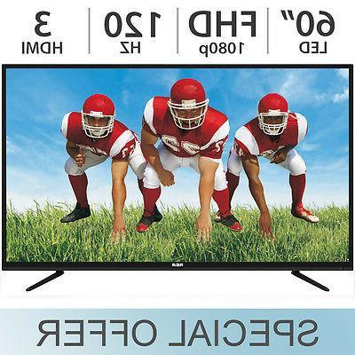 "RCA 60"" Inch FULL HD 1080p LED LCD TV 120Hz w/ 3 HDMI RLED60"