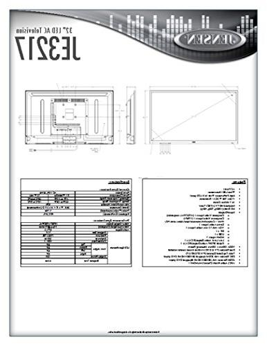 JENSEN AC Television HDTV Tuner Remote Control, WXGA+ HDTV , High Performance 16:9 panel, AC