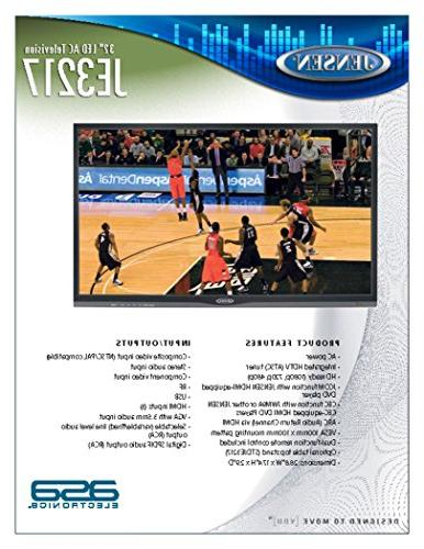 "JENSEN 32"" AC Television Integrated Control, WXGA+ HDTV , High Performance Wide 16:9 panel, AC"