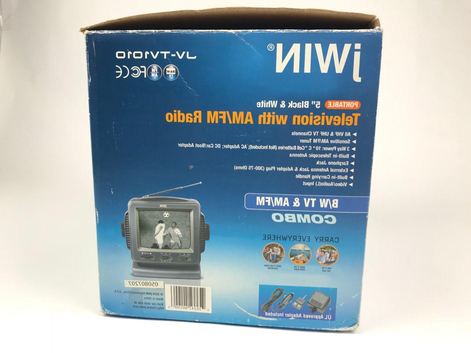 jWIN Analog White AM/FM Radio Combo Portable New