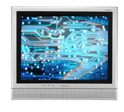 Sharp LC-15E1U 15-Inch LCD Flat-Panel TV, Silver