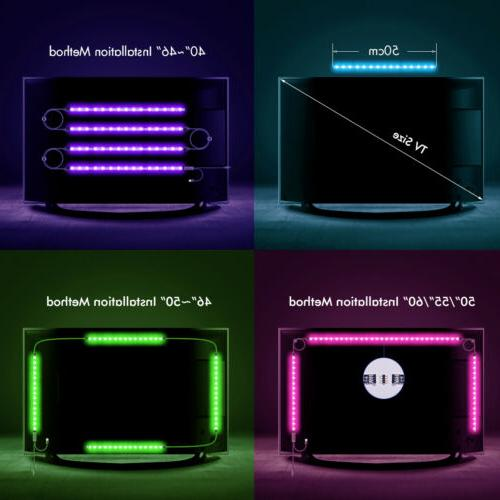 LED Backlight Powered RGB Strip Lights 60 HDTV