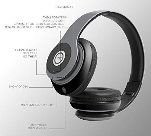 iJoy Matte Rechargeable Wireless Bluetooth Over Headphones Headset