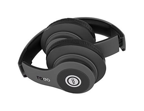 iJoy Matte Finish Premium Rechargeable Headphones Over Headset Mic