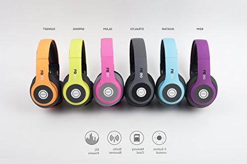 iJoy Finish Premium Rechargeable Over Ear Headset