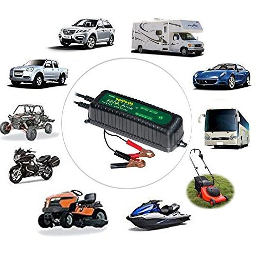 Mroinge MBC035 6V and 12V Battery Charger for Motorcycles, TVs, Powersports, Boat More Vehicle AGM Waterproof