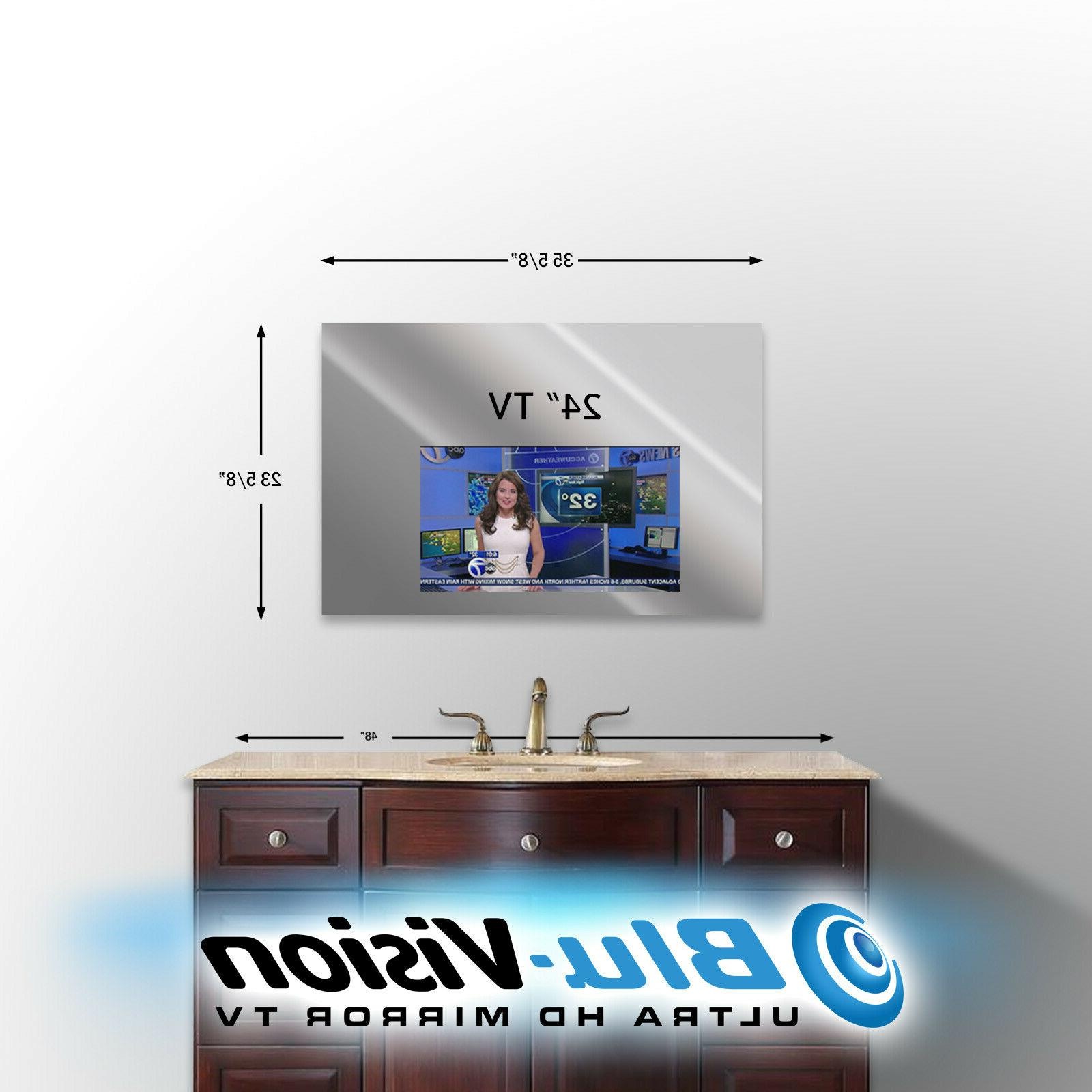 "VANITY MIRROR TV LG 24"" CLASS LED SMART HDTV 35 5/8"" W X"