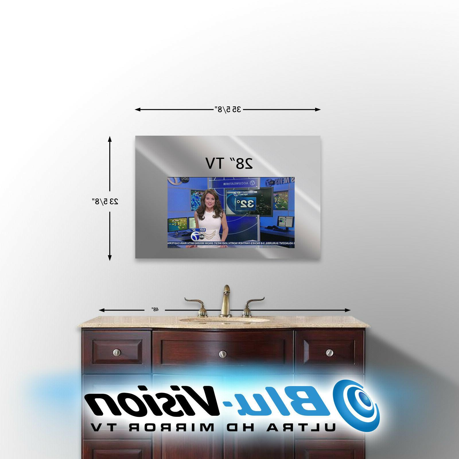 "VANITY MIRROR TV 28"" LG LED 720p TV 35 5/8"" WIDE X 23 5/"