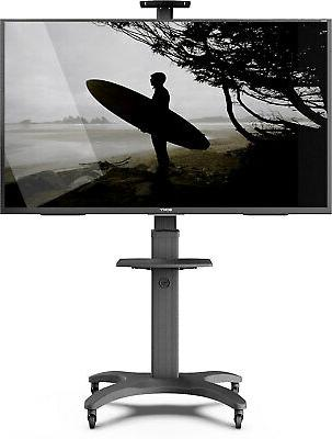 mobile tv mount aluminum base 65in tvs