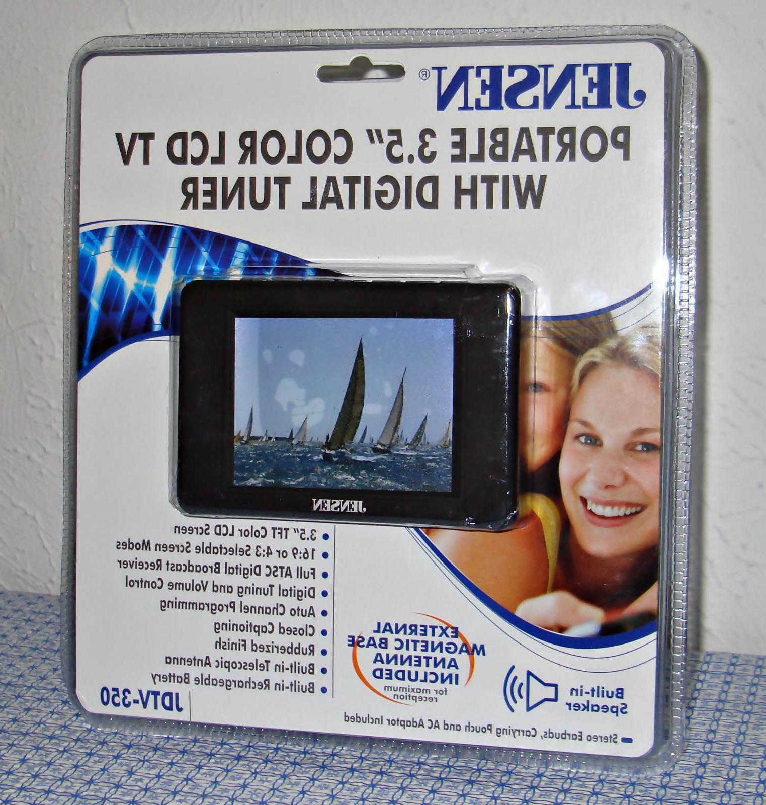 NEW JENSEN JDTV-350 3.5-INCHES TV TUNER/RECEIVER - BLACK