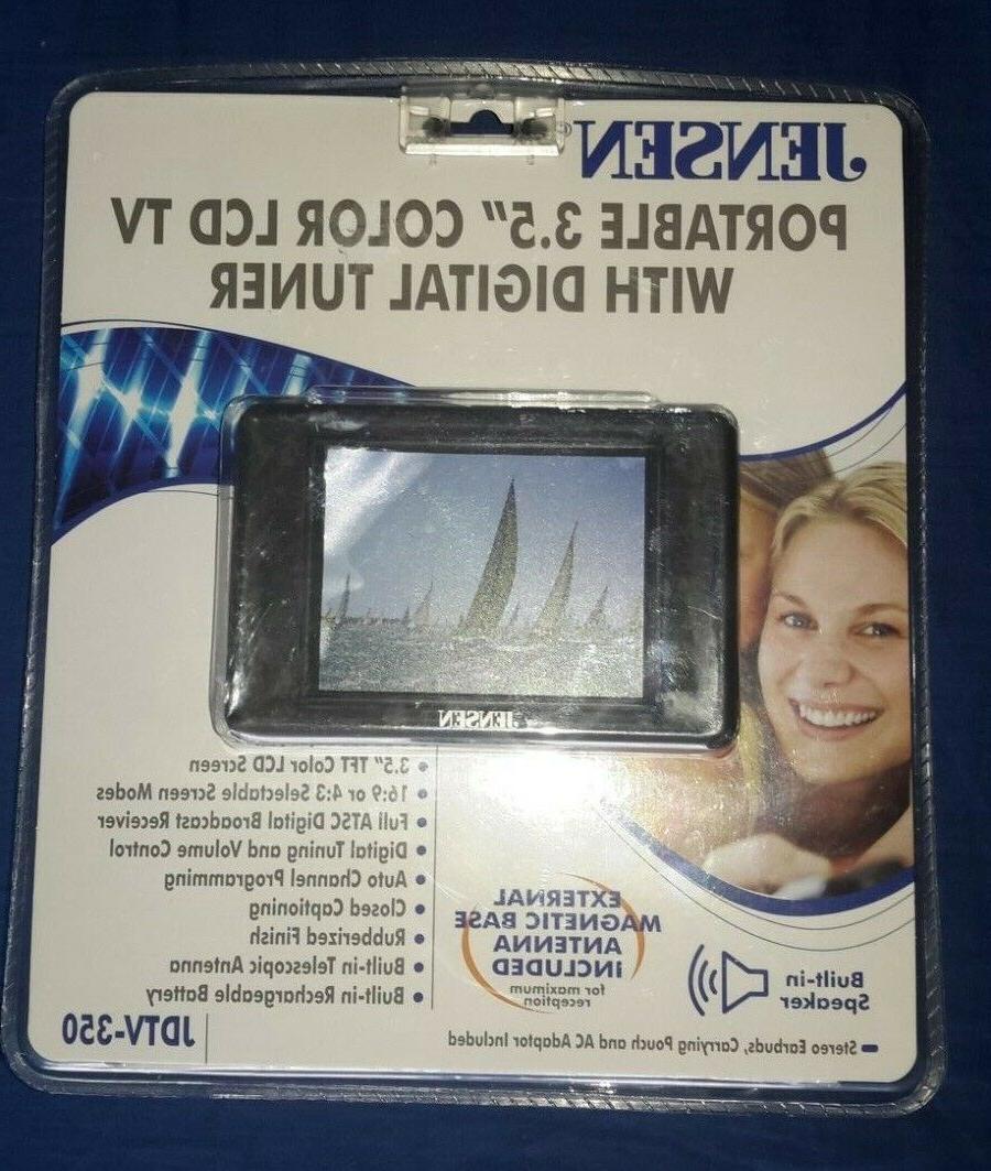 New Sealed Jensen JDTV-350 3.5-INCH TV TUNER/RECEIVER - BLAC