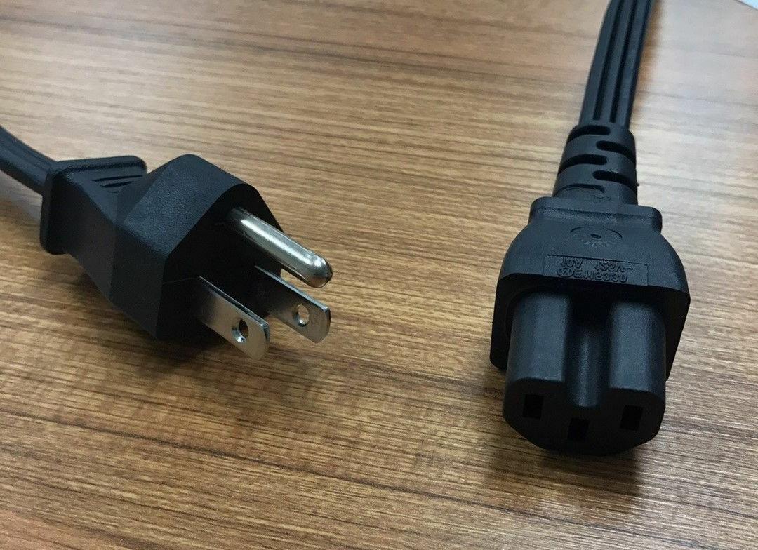 nob 6ft 3 prong ac power cord