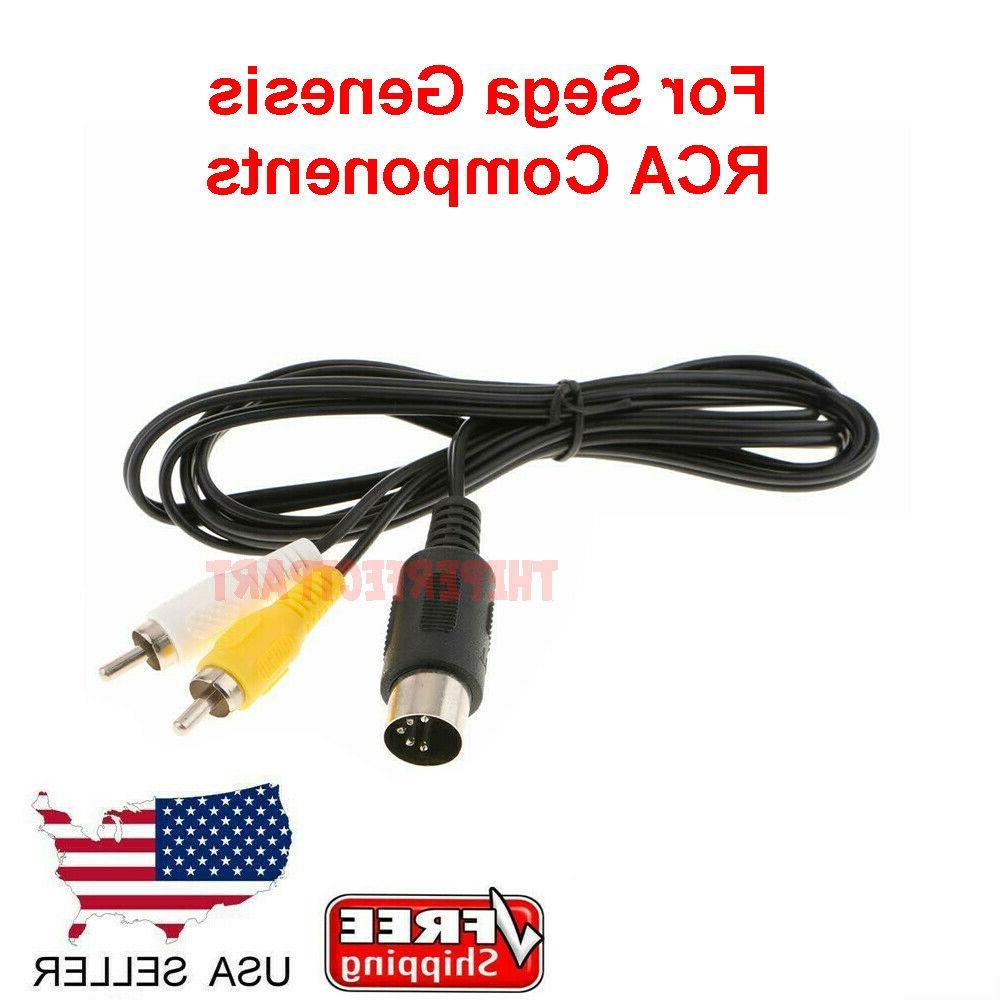 OEM 6FT RCA TV AV Audio Video Cord Cable For Sega Genesis 1