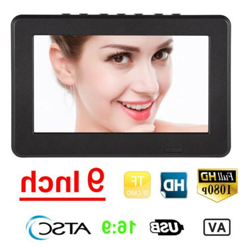 Portable 7/9/10/12Inch TFT LED TV 16:9 Outdoor Television Di