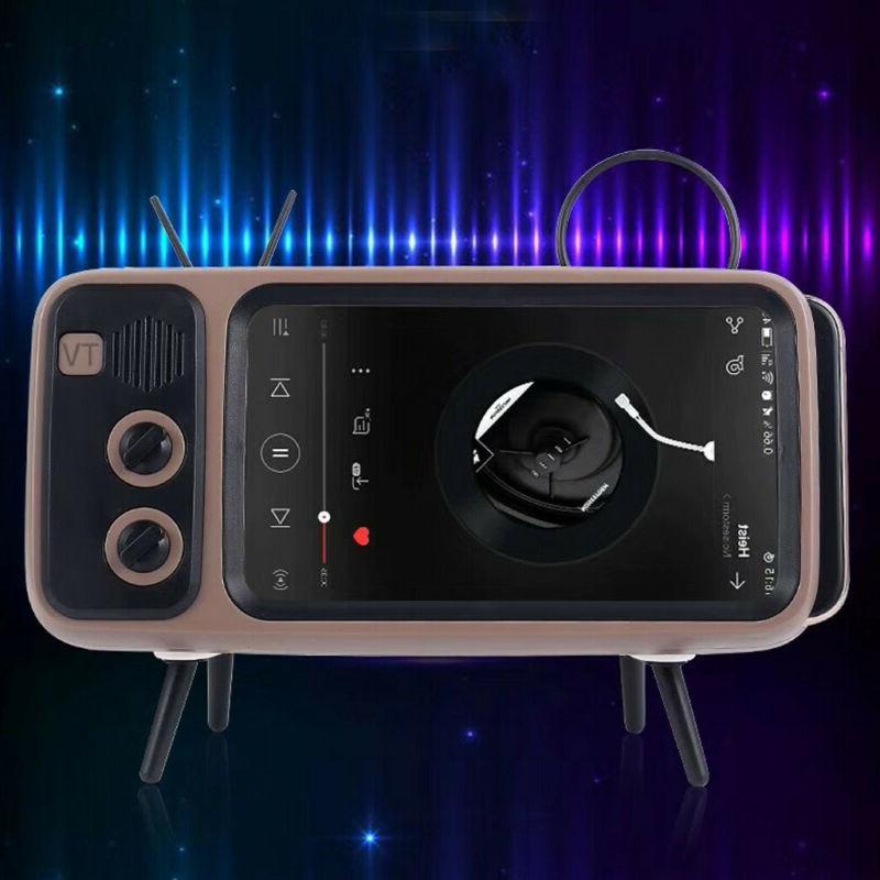 Portable Mini Speaker TV Phone Holder
