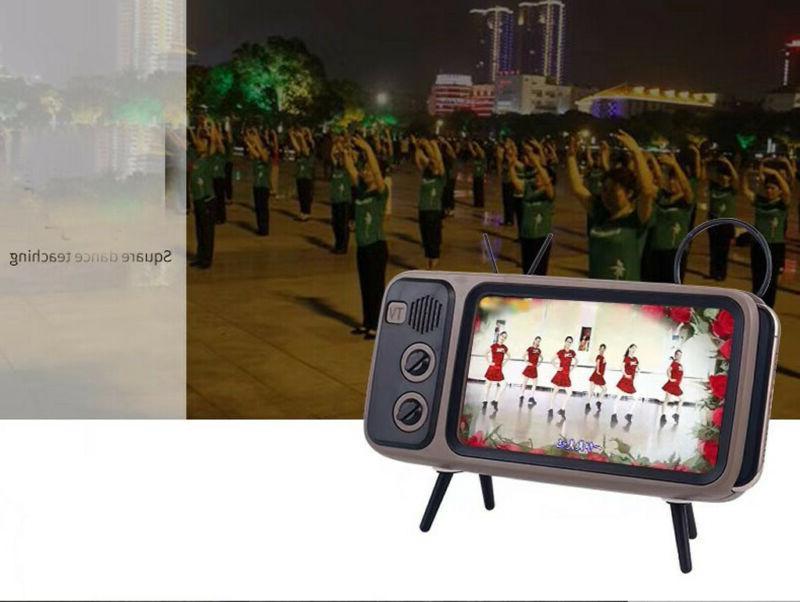 Portable Speaker TV Design Mobile Phone Holder