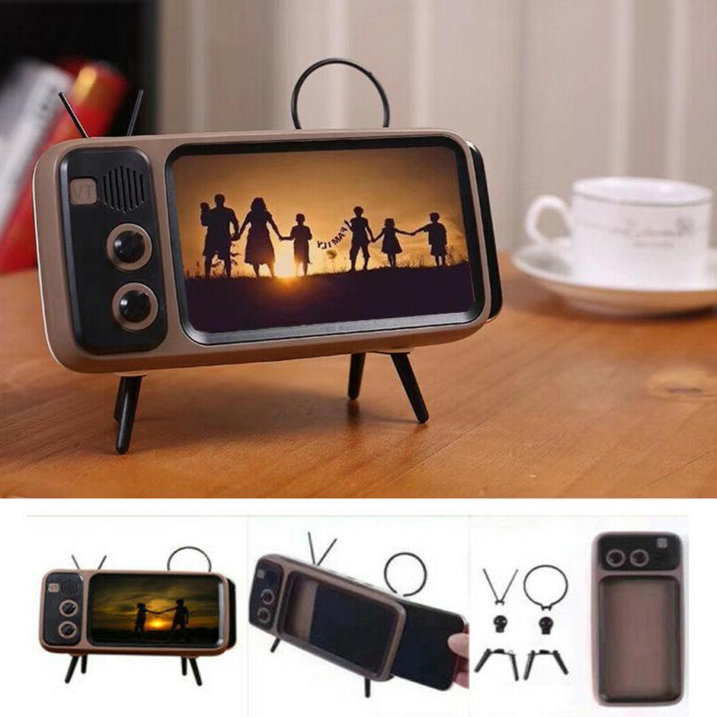 portable retro mini bluetooth speaker tv design