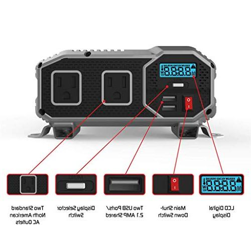ENERGIZER 1500 12V Power Dual AC Up 2.4A