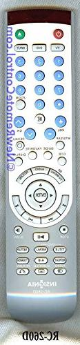 INSIGNIA RC-260D REMOTE CONTROL Part # ES06195D