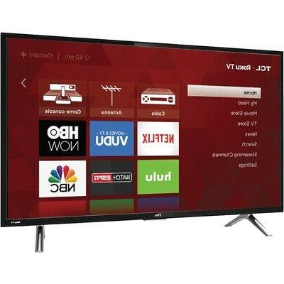 TCL 28-Inch 720p 60Hz Roku Smart LED HDTV with 3 x HDMI 2017 Model 28S305