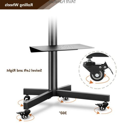 Rolling Cart Mobile Floor inch Flat Curved TVs
