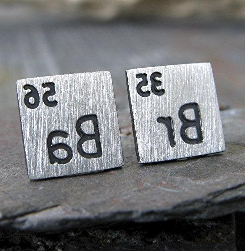 scientific periodic table elements earrings