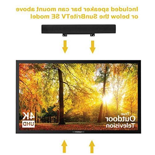 SunBriteTV Outdoor Television UltraHD LED Permanent SB-SE-43-4K-BL