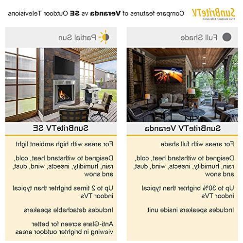 SunBriteTV 43-Inch Outdoor 4K UltraHD Permanent SB-SE-43-4K-BL