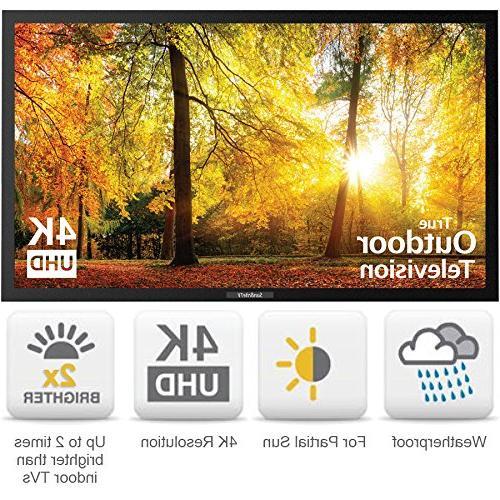 SunBriteTV 43-Inch Outdoor Television UltraHD LED TV for Permanent Outside SB-SE-43-4K-BL